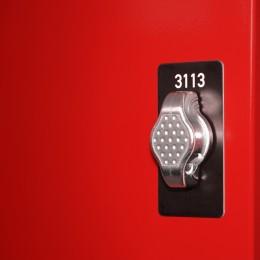 Die hochwertigen Stahlmöbel von rotstahl® erhalten Sie mit verschiedenen Verschlüssen. Ob Spind, Garderobenschrank, Feuerwehrspind, Schuleinrichtung oder Schließfach, Metallschränke von rotstahl® sind wahlweise mit Zylinderschloss oder Drehriegel erhältlich. Beim Drehriegel kann jeder Nutzer sein eigenes Vorhangschloss verwenden. Auf Wunsch können die rotstahl® Stahlschränke mit nahezu alle marktüblichen Verschlüssen ausgestattet werden.