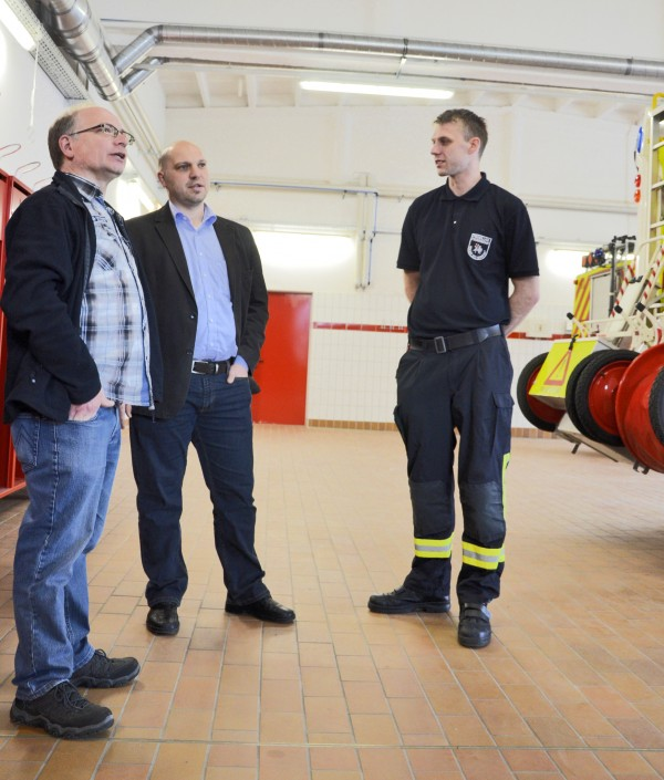 Innovationswettbewerb Feuer&Flamme - Besichtigung des Feuerwehrhauses