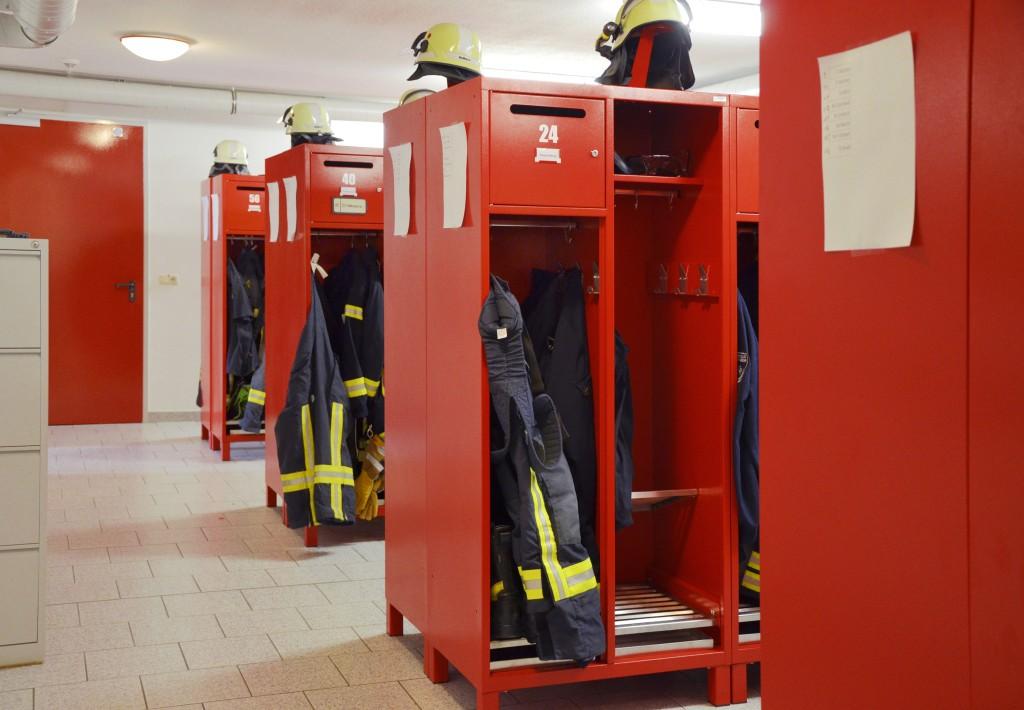Innovationswettbewerb Feuer&Flamme - Siegerspinde in der Umkleide FW Heiligenstadt