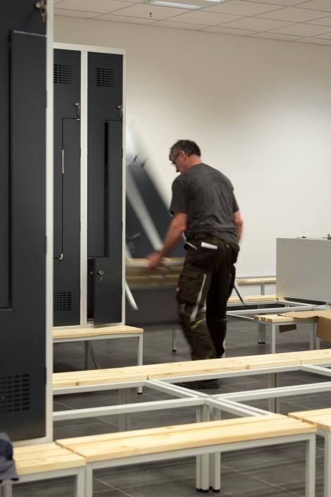 GERRY WEBER Logistikzentrum Montage Z-Spinde