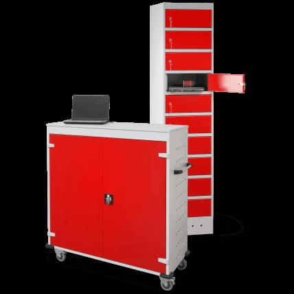 Akku-Ladeschrank – Schließfach und Ladestation für Laptops, Notebooks und Tablets. Jetzt unverbindlich Angebot anfordern und auf Rechnung kaufen.