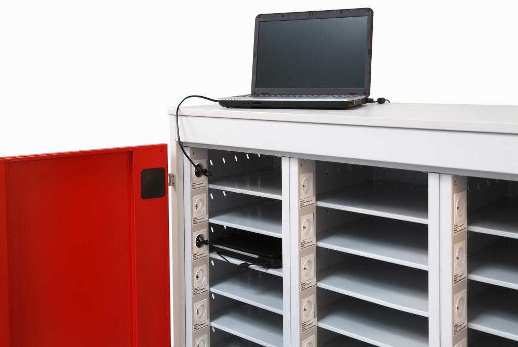 Laptopwagen fahrbahrer Trolley für Laptops, Notebooks und Tablets mit 10, 20 oder 30 Fächern