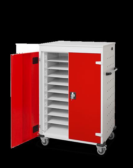 Laptopwagen mit 20 Fächern für Laptops, Notebookwagen für Schule und Büro