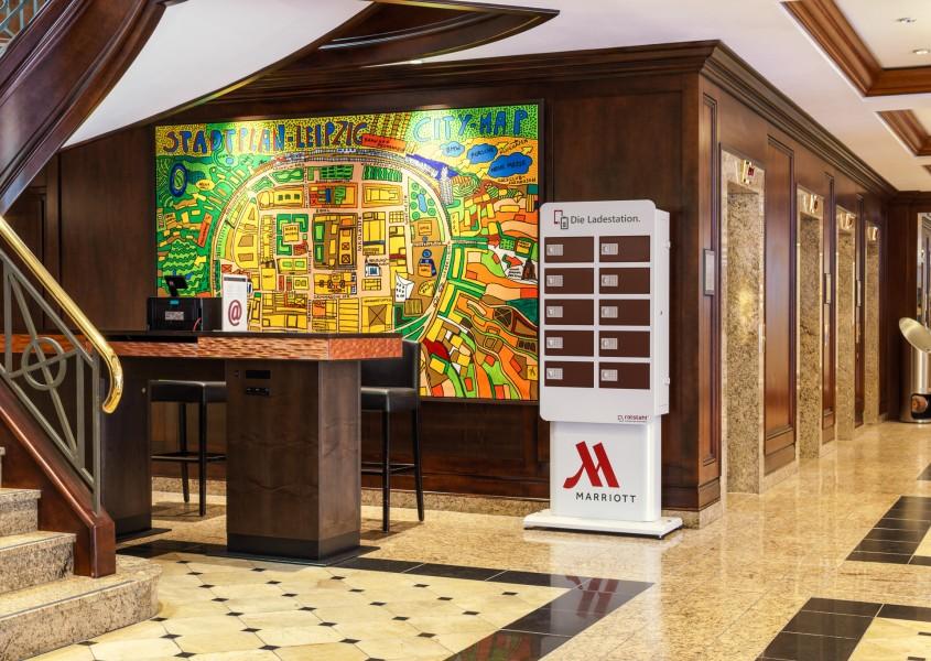 Handy-Ladestation für Kongresse, Tagungen, Konferenzen im Marriott Hotel