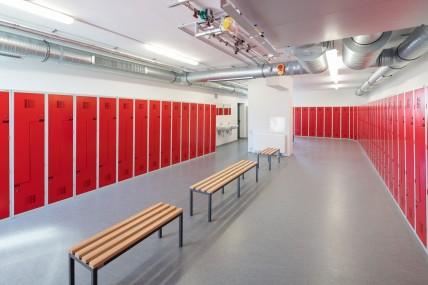 Umkleidespinde in den Räumen der DB Regio in Koblenz