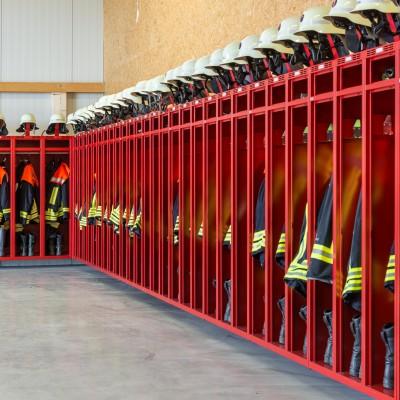 Feuerwehrschränke bei der Feuerwehr Hawangen