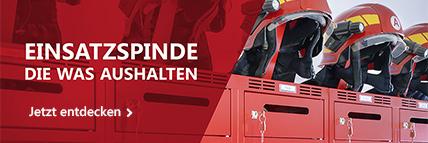 Feuerwehrspinde & Feuerwehrschränke von rotstahl