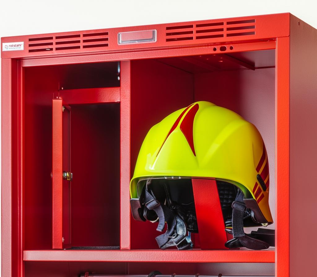 Feuerwehrschrank PROFI mit Wertfach und Helmhalter