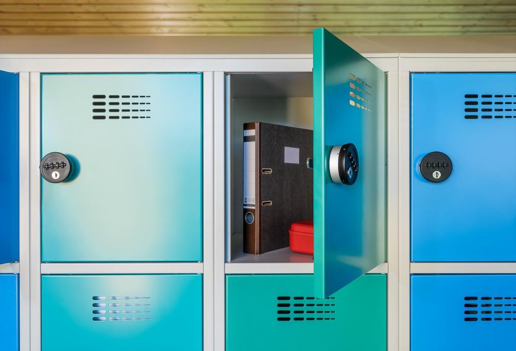 Schließfächer für Schulen mit Stauraum für Bücher und Materialien