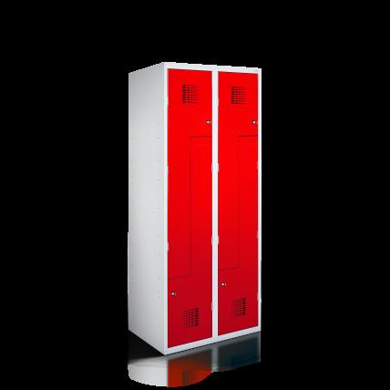 Z-Spind Garderobenschrank mit Abteilen in Z-Form