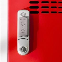 RFID Spind-Schloss mit Schließzylinder für kontaktloses Verschließen mit Chip-Karte oder Empfänger