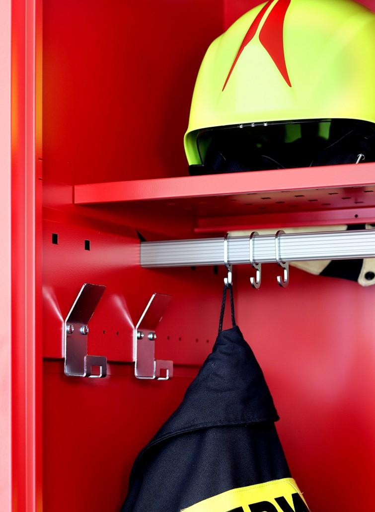 Innenausstattung der Feuerwehrspinde von rotstahl®