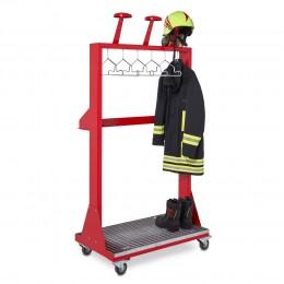 Mobile Feuerwehrgarderobe VELO für die professionelle Bereitstellung Ihrer PSA | rotstahl®