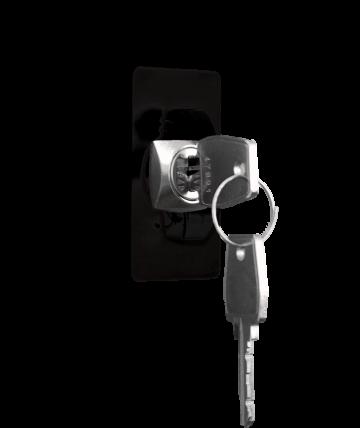 Zylinderschloss mit zwei Schlüsseln freigestellt | rotstahl