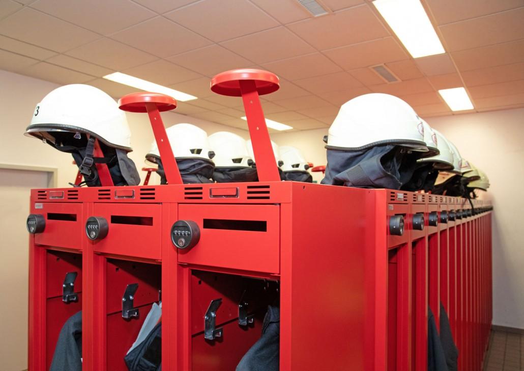 PRO mit ergonomischem Helmhalter in der Feuerwache Bochum | rotstahl